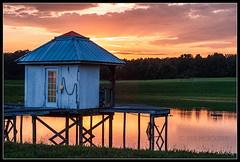 DSC_4081 wm border blog (tedseilerphotography) Tags: boathouse country madisonc water sunset summer relax pond madisoncounty