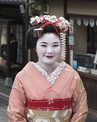 100 Strangers 7/100 Hiroko (Andrew Allan Jpn) Tags: kimono maiko tourist japan kyoto japanese girl woman fashion travel street streetportrait streetfashion mystreet happyplanet pentaxart colour hair 100strangers humanfamily asiafavorites