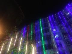 Night's Walk (mrdahiyaa) Tags: architecture building celeberation culture heritage blue green night lights festival life bombay mumbai india street