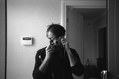 Old School Selfie  ;-) (Phil John (Swansea)) Tags: ilfordhp5 homedeveloped kodakretinnette filmisnotdead