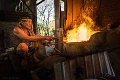 Working the bronze (Goran Bangkok) Tags: bangkok thailand man worker artisan bronze baan bu baanbu culture fire melting
