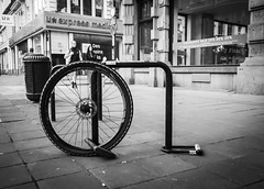 Who the F**k stole my bike! (Janne Räkköläinen) Tags: stolen locked lock bicycle cycle wheel tyre city cityview citylife life streetphotographing streetview streetlife bnw blackwhite bw amateur amateurphotography amateurphotographing katukuvaus mustavalkoinen fujifilm fuji fujifilmx70 x70 fk lifeinstreets lifeincity
