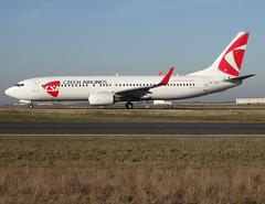 OK-TST, Boeing 737-86N(WL), 37884 / 3223, Czech Airlines CSA, operated by Smartwings (QS/TVS), CDG/LFPG 2019-02-14, taxiway Bravo-Loop. (alaindurandpatrick) Tags: oktst 378843223 737 738 737800 737nextgen boeing boeing737 boeing737800 boeing737nextgen airliners jetliners ok csa csalines csaczechairlines smartwings airlines cdg lfpg parisroissycdg airports aviationphotography