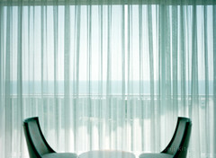 the off side of the window curtain (Kenji Kitae) Tags: window chair curtain white sea sky land lifestyle lifework location landscape room japan earth