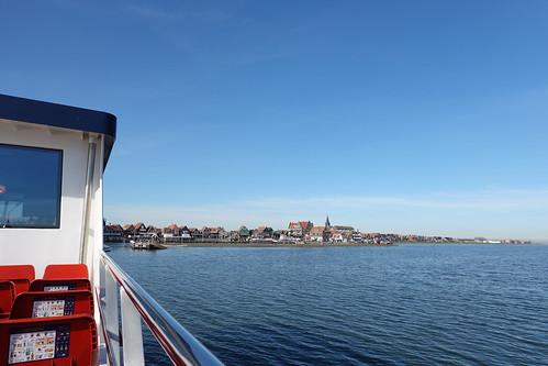 Ferry approaching Volendam, Netherlands (2)