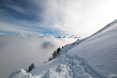 Cloudy hike (Piotr Grodzicki) Tags: austria alps mountains winter tirol