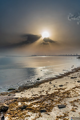 A high Sunrise (MolviDSLR) Tags: sunshine flare nikon molvidslr water saudiarabia saudi star wet jubail blue maqk march travel sunrise sea sun seascape nikkor 2019 beach tourism easternprovince sa