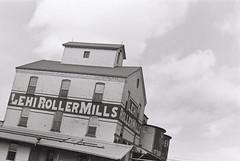 Lehi Roller Mills (iroc409) Tags: minolta xk rokkor 50mm ilford hp5 film 35mm blackandwhite bw lehirollermills lehi utah