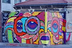 297 - Paris - Février 2019 - le long du Bassin de La Villette (paspog) Tags: paris france bassindelavillette février 2019 fresque fresques streetart mural murals tags graffitis