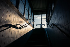 From Shadows to Light (Gilderic Photography) Tags: flemalle station gare belgium belgique stairs light shadows architecture lines urban city street