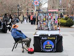 Trump resistance (J Blough) Tags: washingtonsquarepark nyc manhattan trump antitrump
