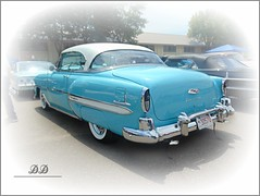 See the U.S.A...... (novice09) Tags: backtothefifties carshow chevrolet 1954 belair whitewalls fenderskirts ipiccy ma