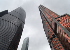 Black and Red (Oleg Kr) Tags: mibc moscow moscowcity panasonic1232mmf3556 russia architecture overcast skyscraper москвасити