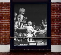 Rue des poupées (Roel Wijnants) Tags: ccbync roelwijnants roelwijnantsfotografie roel1943 poppen venster raam huis verzameling uitgestald ruedespoupées 2019 absoluteleythehague hofstijl wandelen fietsen denhaag thehague leesdegebruiksvoorwaarden cityilove cityfolk wandelvondst