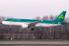 EI-GAM (Andras Regos) Tags: aviation aircraft plane fly airport bud lhbp spotter spotting landing aerlingus airbus a320 panning sunset