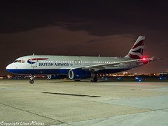 British Airways G-EUYD HAJ at Night (U. Heinze) Tags: aircraft airlines airways airplane planespotting plane flugzeug night olympus penf 1240mm haj hannoverlangenhagenairporthaj eddv