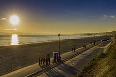 Sunset promenade (Steve M Photography) Tags: bournemouthbeach bournemouth promenade seafront beach coast coastline southcoast dorset shadows sunset dusk sunshine orangesky bluesky sand seaside esplanade