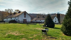 Afternoon in wine country (seventh_sense) Tags: winery vineyard virginia scene scenery pastoral relaxing green field sun sunlight barn roof farm tree trees wine silo mountains