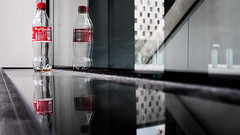 Four Pack (Sean Batten) Tags: london england unitedkingdom gb reflection londonbridge coke cola window glass fuji x100f fujifilm city urban