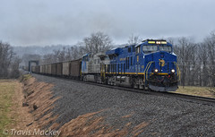 NS 744 at East Old Fort with the N&W Heritage Engine leading and NS 4000 trailing (Travis Mackey Photography) Tags: ns 744 oldfort nc sline asheville district nw heritage engine 4000 gevo ac44c6m