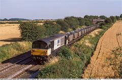 58012GB_Peterborough_160498 (Catcliffe Demon) Tags: railways uk class58 brel ukrailimages1998 diesellocomotive ews englishwelshscottishrailway ewsrailway breltype5 staffordshire mgr merrygoround haa coal mainlinefreight