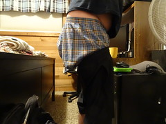 Sagging At Home (dylanthomas92) Tags: sagging sagger sag sexy sags baggy hanes boxers butt bulge comfortable jeans relaxing horny hot shorts lowride lowriding underwear plaid wrangler