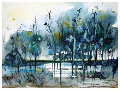 💧🌿 Rainy day 🌿💧 (wittmannsvetlana) Tags: painter aquarelle scenery nature landscape painting watercolour watercolor artwork art