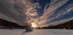 winter sunset (MyMUCPics) Tags: münchen munich bayern bavaria deutschland germany gerold geroldsee sonnenuntergang sunset sonne sun drausen exterior natur nature schnee snow winter landschaft landscape