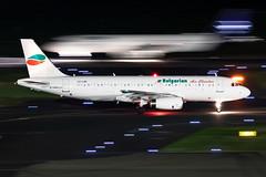 LZ-LAG Bulgarian Air Charter Airbus A320-231 (buchroeder.paul) Tags: eddl dus dusseldorf international airport germany europe ground night lzlag bulgarian air charter airbus a320231