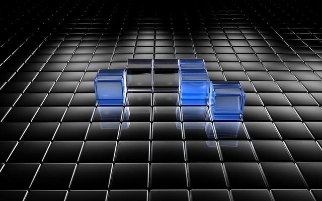 Обои кубы, поверхность, свет, размер, пространство картинки на рабочий стол, фото скачать бесплатно