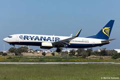 Ryanair Boeing 737-8AS     EI-DLF     LMML (Melvin Debono) Tags: ryanair boeing 7378as   eidlf lmml cn 33588 melvin debono spotting canon plane planes photography airport airplane aviation aircraft mla malta