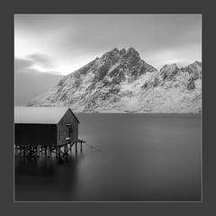 Gone Fishing (W.Utsch) Tags: lofoten norway longexposure nd bnw mountains water