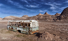 The abandoned bus of the Valle del Luna (marko.erman) Tags: bus abandonned ruin