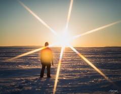 Soul Spark (Chris Lakoduk) Tags: horizon alone aline standing nikon soulfull landscape snow photography flare sunflare sunburst sun sunset soulspark soul