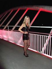 Tesco's Bridge, St Helens 23rd March 2019 (paula_1558) Tags: stockings pose outside blonde smile fetish shiny foxtail legs nylons stiletto kinky bridge pvcdress highheels holdups naughty stilettos risky tescos pvc blackpatentshoes shortdress stilettoheels