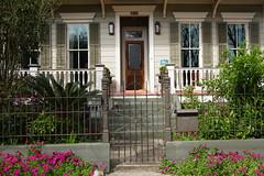 HFF Iron fence; wood fence (Omunene) Tags: fence fencefriday neworleans woodfence wroughtironfence