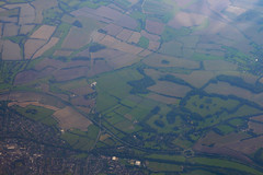 Over Chawton, October 3rd 2011 (Southsea_Matt) Tags: eciqr iberia oneworld airbus a340642 canon 30d october 2011 autumn aviation windowseat windowview ib3163 unitedkingdom england hampshire chawton alton