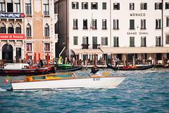 Taxi on the Grand Canal (ho_hokus) Tags: 2017 europe grandcanal italy nikon nikond80 tamron tamron18270mmlens venezia venice d80 taxi boat hotelmonaco water canal architecture