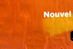 Nouvel an chaud / Warm new year (fidgi) Tags: paris affuche poster couleur colors coloful text texte abstract abstrait canon canoneos5dmk3 orange
