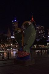_DSC0332 (Laugia) Tags: melbourne nuit sculpture pont rivière yarra