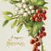 Vintage Christmas card design