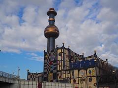 Hundertwasser (Elisabeth patchwork) Tags: spittelau hundertwasser fernheizwerk wien vienna austria architecture colorful atsh
