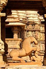Khajuraho (daniel virella) Tags: sculpture carving lion temple hindu khajuraho खजुराहो madhyapradesh मध्यप्रदेश india bharat भारत khajurahogroupofmonuments unesco worldheritagelist picmonkey