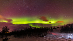Northern Lights over Norway (pboolkah) Tags: canon canon5d canon5dmkiv norway sky astro stars snow