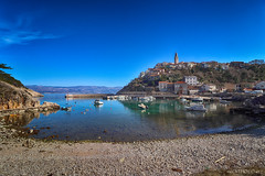 Vrbnik-old, stony town above sea (malioli) Tags: town place city stony stone house sea adriatic vrbnik krk island hrvatska croatia canon europe old historic heritage