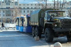 DSCF9264 (Бесплатный фотобанк) Tags: россия москва 23 февраля 2019 зима солнце площадь революции автобусы автобус урал автомобиль военный