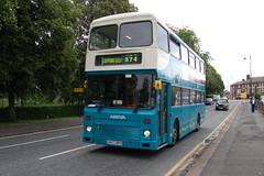 Arriva Volvo Citybus 4397 G647BPH - Stafford (dwb transport photos) Tags: arriva volvo citybus northerncounties bus decker 4397 g647bph stafford