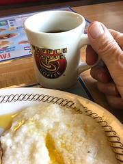 20190314 073/365 (iPhone):  Grits with plenty of butter (lamarstyle) Tags: lamarstyle 2019 iphone6s wafflehouse westmonroe louisiana coffee grits breakfast