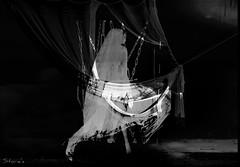 ghost in your mind   (Storie's~GlitterPrincess Destiny) (GlitterPrincess Destiny (in SL) Black Label Exhibi) Tags: chains innocence veil ghost stories glitterprincess destiny jamiencells stage bw black white dance strange light ballet solitary bound fragile