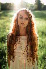 . (Daniel Mohn Photography) Tags: sam 35 14 af sony alpha a7iii model portrait redhead sunset backlight nature white dress beautiful